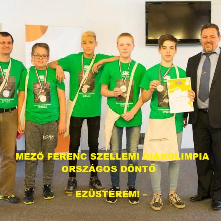 Mező Ferenc Szellemi Diákolimpia – EZÜSTÉREM ! –